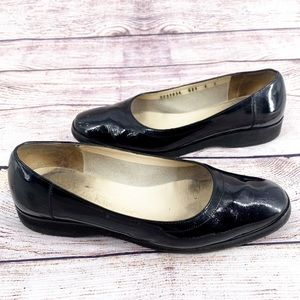 Salvatore Ferragamo Boutique Italy Black Flats 6